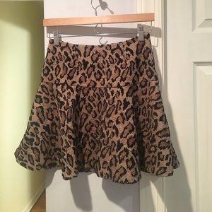 Leopard free people mini skirt
